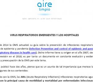 Artículo de Aire Limpio sobre las ARIs y los hospitales