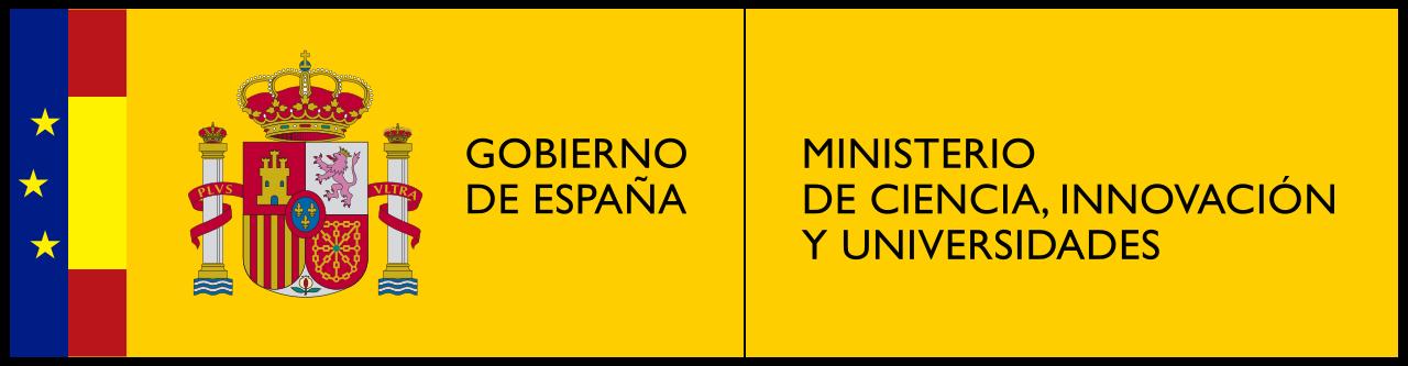 Logo del Ministerio de Ciencia, Innovación y Universidades