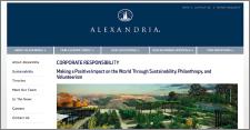 Página web Alexandria, activos inmobiliarios sostenibles