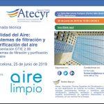 Jornada Técnicas con Atecyr en Barcelona.DTIE 2.06: Sistemas de filtración de aire. 25 de junio