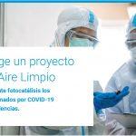 """El CDTI elige un proyecto de I+D de Aire Limpio para destruir mediante fotocatálisis los """"aerosoles"""" contaminados por COVID 19 en hospitales y residencias."""