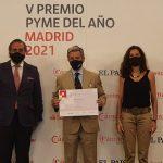 AIRE LIMPIO premiada con la mención especial COVID-19 de los Premios Pyme del Año de Madrid 2021.